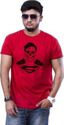 POPCON Printed Men Round Neck Red T-Shirt