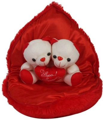 Lata Cute Couple In Heart   30 cm Red Lata Soft Toys