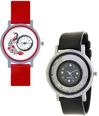INDIUM NEW BLACK MOVABLE DIAMOND WATCH Watch  - For Girls   Watches  (INDIUM)
