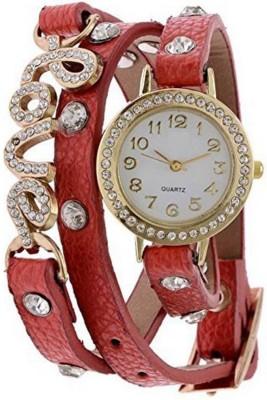 Piu collection PC _ Love dori Red Fancy watch For women Watch  - For Girls   Watches  (piu collection)