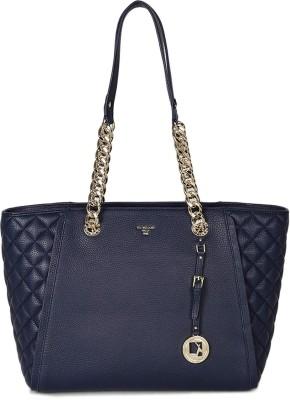 Da Milano LB-4061BLUEWAXQUILTING Shoulder Bag(Blue, 3 L)