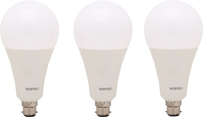 Wipro 23 W Standard B22 LED Bulb(White, Pack of 3)  available at flipkart for Rs.1875