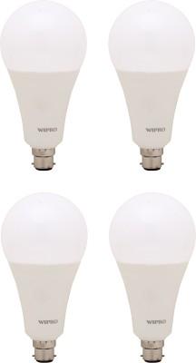 Wipro 23 W Standard B22 LED Bulb(White, Pack of 4)  available at flipkart for Rs.2500