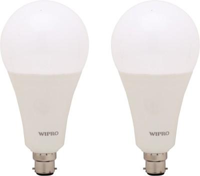 Wipro 23 W Standard B22 LED Bulb(White, Pack of 2)  available at flipkart for Rs.1250