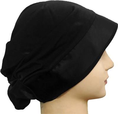 777289c52e2 View Cwen Collection Embellished Hijab BLACK LYCRA TURBAN CAP SATIN