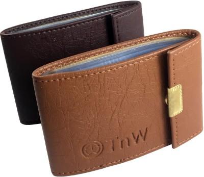 SnW Enterprises 15 Card Holder(Set of 2, Tan, Brown)