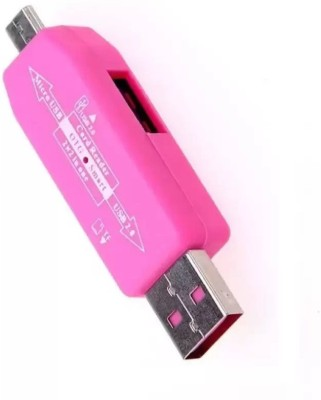 RetailShopping Universal Micro USB Sd Tf Card Reader With Micro USB OTG Adapter Card Reader(Pink)