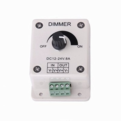 TRP TRADERS 12V-24V 8A LED Light Dimmer Brightness Adjustable Control Controller,Power Saver 8 A Step Dimmer(White) at flipkart