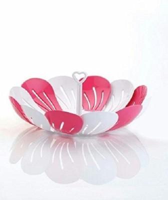 krishtal trading Fruit & Vegetable Basket Plastic Fruit & Vegetable Basket(Pink)  available at flipkart for Rs.179