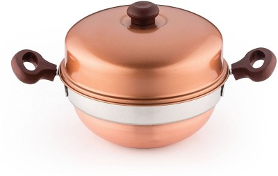 Pigeon Multi Kadai Copper Induction & Standard Idli Maker(3 Plates , 12 Idlis )  available at flipkart for Rs.1117