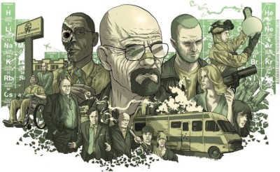 WingAge Breaking-Bad-Revolvers-Rv-Walter-White-Gustavo-Fring-Jesse-Pinkman-Skyler-White-Saul-Goodman-Periodic-Table-Hank-Schrader-Tv Paper Printed Poster (12x18inch) Paper Print(18 inch X 12 inch)  available at flipkart for Rs.219