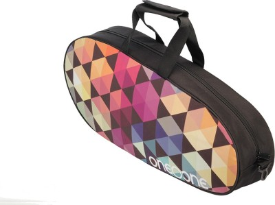 One O One Canvas Collection Single Hexagon   Badminton / Tennis Kitbag Badminton Kit Bag Multicolor, Kit Bag