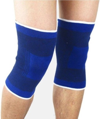 Leosportz Knee Cap,Knee support,knee guard Free size (Pair) Knee Support (Free Size, Blue)  available at flipkart for Rs.128