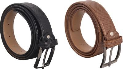 Earnam Men Casual, Party, Evening Tan Genuine Leather Belt