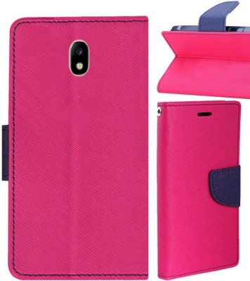 Top Grade Flip Cover for Samsung Galaxy J7 Pro(Pink, Blue, Shock Proof, Artificial Leather, Silicon)