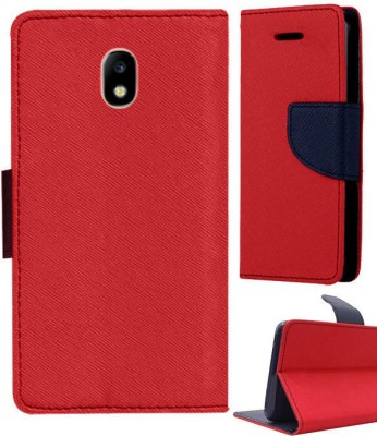 G-MOS Flip Cover for Samsung Galaxy J7 Pro(Red, Blue, Shock Proof, Artificial Leather, Silicon)