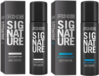 axe signature champion and mysterious 2 pack combo Deodorant Spray  -  For Men(240 ml, Pack of 2)