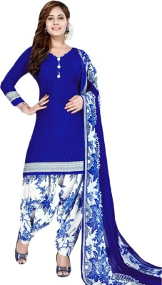 Fashion Valley Crepe Printed Salwar Suit Dupatta Material, Kurta & Churidar Material(Un-stitched)