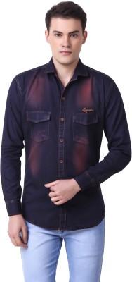 Cavenders Men's Solid Casual Slim Shirt