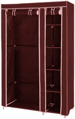 KridhaCart Fabric 2 Door Wardrobe(Finish Color - Maroon)