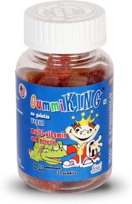Gummi King GK01 Strawberry, Lemon, Grape, Orange, Peach Flavored Gummies(85 g)