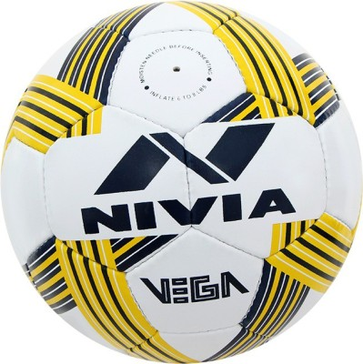 Nivia Vega Football - Size: 5(Pack of 1, White, Yellow)  available at flipkart for Rs.649