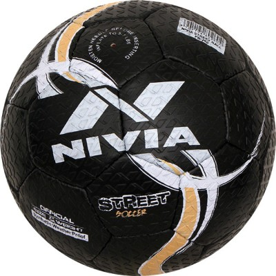Nivia STREET Football -   Size: 5(Pack of 1, Black)  available at flipkart for Rs.745