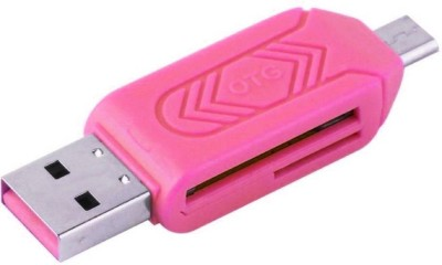 Apro All in one card support OTG Micro SD+TF Card Reader  Multicolor  Card Reader Pink Apro Computer Peripherals