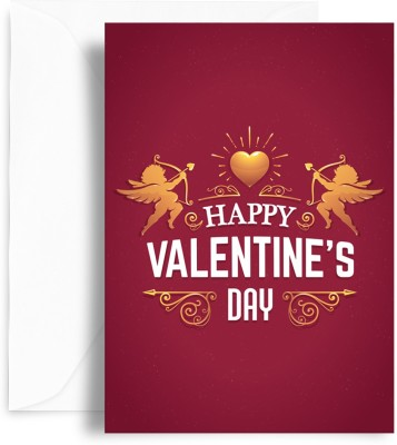 KAARTI Valentine Day Greeting Card(Multicolor, Pack of 1)