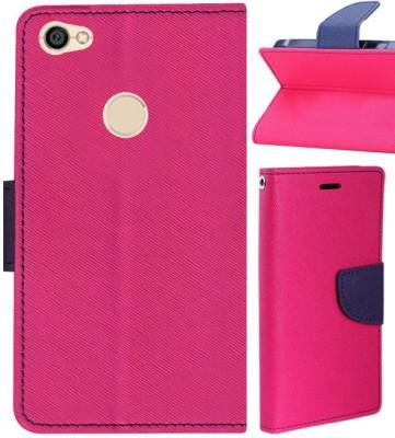 Top Grade Flip Cover for Mi Redmi Y1 Pink, Shock Proof Top Grade Plain Cases   Covers
