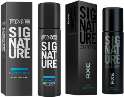 axe signature mystrarious and rogue 2 pack combo Deodorant Spray  -  For Men(244 ml, Pack of 2)