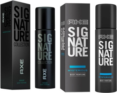 axe signature rogue and mystarious 2 pack combo Perfume Body Spray  -  For Men(244 ml, Pack of 2)