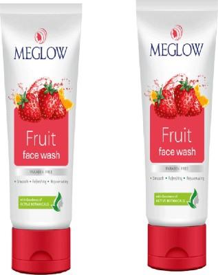 meglow Fruit Face Wash 140 g Set of 2 Face Wash(70 g)  available at flipkart for Rs.159
