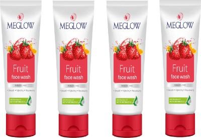 Meglow Fruit Face Wash 280 g Set of 4 Face Wash(70 g)  available at flipkart for Rs.306