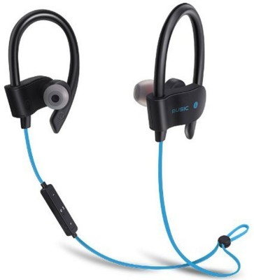 fivme Wireless Portable Bluetooth Headphone V+4.1 Excellent voice Quality Bluetooth Headphone Blue Jogger Bluetooth Headset with Mic(Blue, In the Ear)