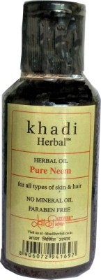 Khadi Herbal Pure Neem Oil for Hair & Skin 100ml(100 ml)  available at flipkart for Rs.150