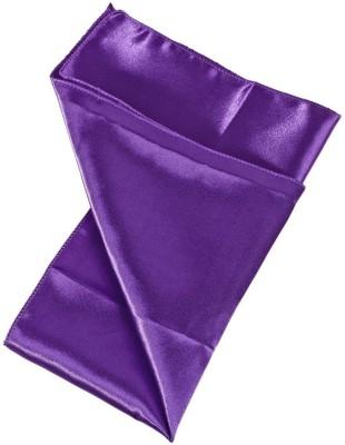 Hind Home satin Violet Solid Satin Pocket Square