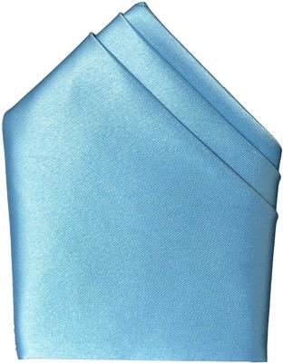 Hind Home Sky Blue Satin Solid Satin Pocket Square