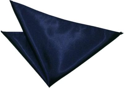 Hind Home Satin Navy Blue Solid Satin Pocket Square