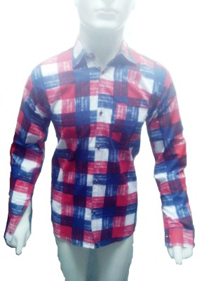 Sunshiny Men's Checkered Casual Multicolor Shirt  available at flipkart for Rs.245