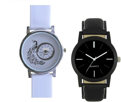 View INDIUM NEW STYLIST BLACK COLOR COUPLE WATCH WITH NEW GIRL PEACOCK WATCH LATEST COLLECTION WITH NEW COLLECTION PLANET ZO Watch  - For Girls  Price Online
