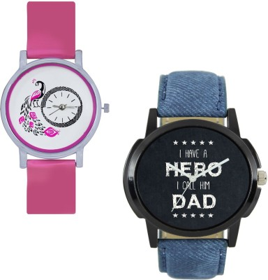 View INDIUM NEW COUPLE WATCH WITH BLUE MEN DAD WATCH WITH PEACOCK WATCH FOR GIRL LATEST COLLECTION WITH LATEST COLLECTION FANCY WATCH COUPLE WATCH Watch  - For Couple  Price Online