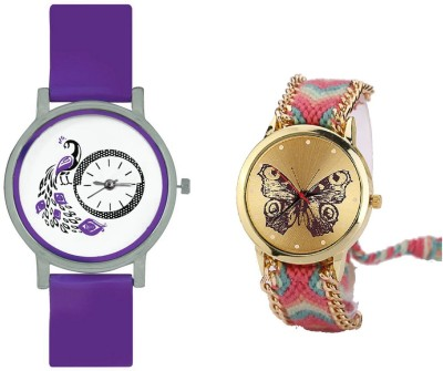 INDIUM NEW BUTTERFLY WATCH WITH PEACOCK WATCH BIRD LOVER SPECIAL WATCH COLLECTION OUT FROM PLANET ZONE Watch  - For Girls   Watches  (INDIUM)