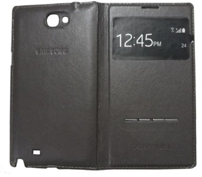 Rian Flip Cover for Samsung Galaxy Note 2 ( N7100) (S View Window)(Dark Brown, Leather, Plastic)