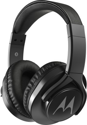 Motorola Pulse 3 Max with Google Assistant Wired Headset(Black, On the Ear)