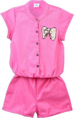 Lilpicks Solid Baby Girl's Jumpsuit