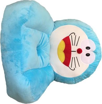 Disney Doraemon Cartoon Character Kids Sofa Chair Synthetic Fiber Sofa(Finish Color - Blue)