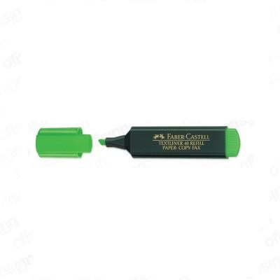 Faber-Castell Angular Textliner highlighter Marker Pen(Set of 10, Green)  available at flipkart for Rs.195