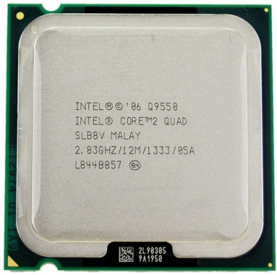 Intel 2.83 LGA 775 Core 2 Quad Q9550 Processor(Silver)