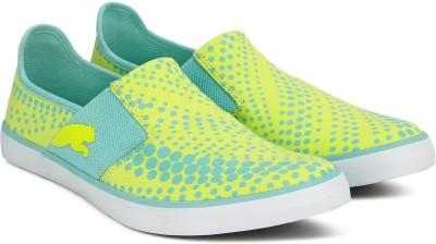 Puma NU Ballet DP Slip on Sneakers For Women(Blue, Green)